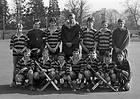 Kilkenny College Vs Kings Hospital in the Leinster Schools Senior Cup in Grange Road, Kilkenny Hockey Team, 11/03/1987 (Part of the independent Newspapers Ireland/NLI Collection).