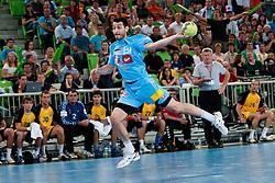 Dragan Gajic of Slovenia during handball match between National teams of Slovenia and Ukraine of 2012 EHF Men's European Championship Play-off, on June 12, 2011 in Arena Stozice, Ljubljana, Slovenia. (Photo By Matic Klansek Velej / Sportida.com)