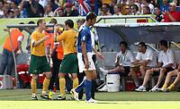 Foto Omega/Colombo<br /> 26/06/2006 Campionati Mondiali di Calcio 2006<br /> Ottavi di Finale <br /> Italia -Australia  <br /> nella foto :  L'espulsione di Marco  Materazzi