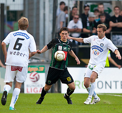 01.08.2010, Tivoli Stadion, Innsbruck, AUT, 1. FBL, FC Wacker Innsbruck vs SK Puntigamer Sturm, im Bild v.l. Manuel Weber,(SK Sturm Graz, Mittelfeld, #06) vs Miran Burgic,(FC Wacker Innsbruck, Sturm, #´09) uns Ferdinand Feldhofer,(SK Sturm Graz, Verteidiger, #05). EXPA Pictures © 2010, PhotoCredit: EXPA/ J. Groder / SPORTIDA PHOTO AGENCY