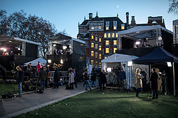 © Licensed to London News Pictures. 12/12/2018. London, UK. Broadcasters on College Green as Prime Minister Theresa May faces a vote of no confidence from her own party this evening. Photo credit: Rob Pinney/LNP