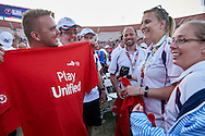 SO Great Britain Closing Ceremony of the Special Olympics World Games Los Angeles 2015 at the Los Angeles Coliseum Stadium on ninth day, August 2, 2015 in Los Angeles, USA.<br /> <br /> USA, Los Angeles, August 2, 2015<br /> <br /> Picture also available in RAW (NEF) or TIFF format on special request.<br /> <br /> For editorial use only. Any commercial or promotional use requires permission.<br /> <br /> Adam Nurkiewicz declares that he has no rights to the image of people at the photographs of his authorship.<br /> <br /> Mandatory credit:<br /> Photo by © Adam Nurkiewicz / Mediasport