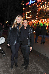 MELISSA ODABASH and JULIEN MACDONALD at the opening of the 2012 Winter Wonderland, Hyde Park on 22nd November 2012.