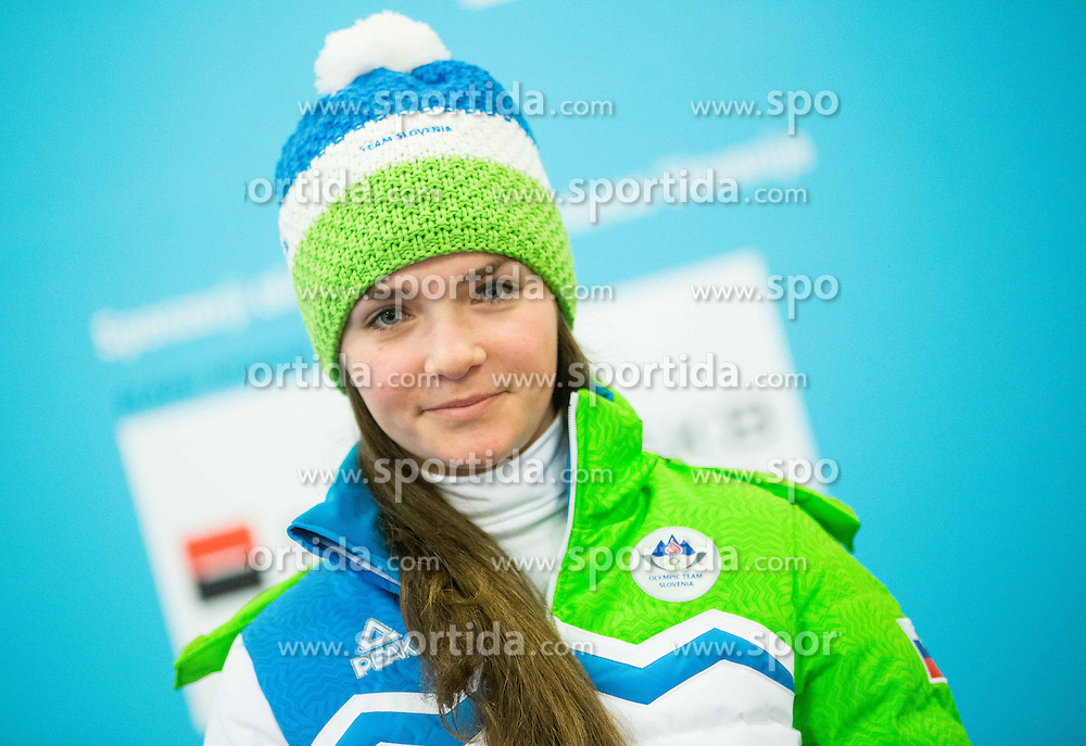 Zala Kobentar during presentation of Slovenian Young Athletes before departure to EYOF (European Youth Olympic Festival) in Vorarlberg and Liechtenstein, on January 21, 2015 in Bled, Slovenia. Photo by Vid Ponikvar / Sportida