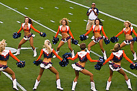 Denver Broncos Cheerleaders, Denver Broncos vs. Pittsburgh Steelers NFL football game, Invesco Field at Mile High (stadium), Denver, Colorado USA