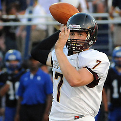 Photos by Tom Kelly IV<br /> Avon Grove QB Tanner Peck (7) passes the ball during the Avon Grove at Kennett, Friday night football game under the lights, August 30, 2013.