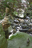 Warwick, New York - Stone cairns were seen during a hike at Fuller Mountain Preserve as part of the 2012 Hudson River Valley Ramble on Sept. 15, 2012. The preserve is owned and managed by the Orange County Land Trust.