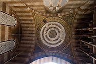 Egypt . Cairo : QANI BAY AS SAYFI - AMIR AKHUR mosque - inside before renovation - in the area of  SULTAN HASSAN . islamic Cairo +