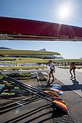 Rio de Janeiro. BRAZIL.   2016 Olympic Rowing Regatta. Lagoa Stadium,<br /> Copacabana,  &ldquo;Olympic Summer Games&rdquo;<br /> Rodrigo de Freitas Lagoon, Lagoa. Local Time 15:10:32   Friday  05/08/2016 <br /> <br /> [Mandatory Credit; Peter SPURRIER/Intersport Images]