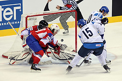 12.05.2011, Orange Arena, Bratislava, SVK, IIHF 2011 World Championship, Finnland vs Norway, im Bild RUUTU TUOMO SCORES GOAL FOR FINLAND. EXPA Pictures © 2011, PhotoCredit: EXPA/ EXPA/ Newspix/ .Tadeusz Bacal +++++ ATTENTION - FOR AUSTRIA/(AUT), SLOVENIA/(SLO), SERBIA/(SRB), CROATIA/(CRO), SWISS/(SUI) and SWEDEN/(SWE) CLIENT ONLY +++++