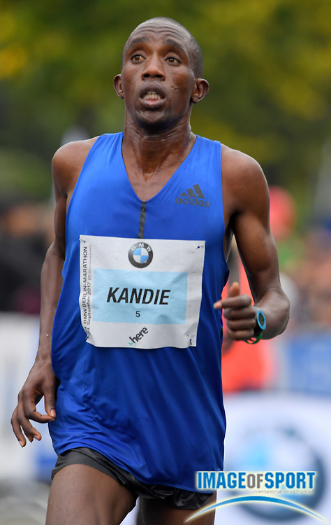 Felix Kandie (KEN) places fourth in 2:06.13 in the 44th Berlin Marathon in Berlin, Germany on Sunday, September 24, 2017. (Jiro Mochizuki/Image of Sport)