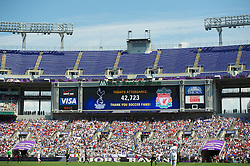 BALTIMORE, MD - Saturday, July 28, 2012: 42,723 fans watch Liverpool take on Tottenham Hotspur during a pre-season friendly match at the M&T Bank Stadium. (Pic by David Rawcliffe/Propaganda)