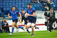 Essai Yoann MAESTRI - 15.03.2015 - Rugby - Italie / France - Tournoi des VI Nations -Rome<br /> Photo : David Winter / Icon Sport