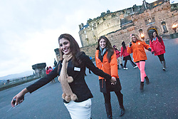 .The Miss World participants visit Edinburgh Castle and experience a rousing 'Beating Retreat' ceremony..MISS WORLD 2011 VISITS SCOTLAND..Pic © Michael Schofield.