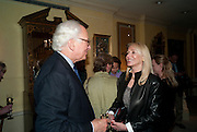 SIR EVELYN DE ROTHSCHILD; JUDY TAUBMAN, An exhibition of watercolours by William Rayner at Mallet's, New Bond St. Party afterwards at Bellami's, bruton Place. London. 16 June 2010. .-DO NOT ARCHIVE-© Copyright Photograph by Dafydd Jones. 248 Clapham Rd. London SW9 0PZ. Tel 0207 820 0771. www.dafjones.com.