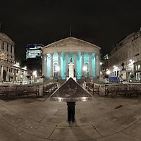 Panorama of Royal Exchange and Bank in The City Of London