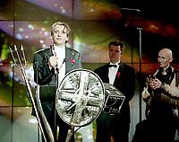 Peter Gabriel, The BRIT Awards 1993 <br /> Tuesday 16 Feb 1993.<br /> Alexandra Palace, London, England<br /> Photo: John Marshall - JM Enternational