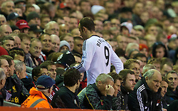09.11.2013, Anfield, Liverpool, ENG, Premier League, FC Liverpool vs FC Fulham, 11. Runde, im Bild Fulham's captain Dimitar Berbatov is substituted during the 4-0 defeat to Liverpool // during the English Premier League 11th round match between Liverpool FC and Fulham FC at Anfield in Liverpool, Great Britain on 2013/11/09. EXPA Pictures © 2013, PhotoCredit: EXPA/ Propagandaphoto/ David Rawcliffe<br /> <br /> *****ATTENTION - OUT of ENG, GBR*****