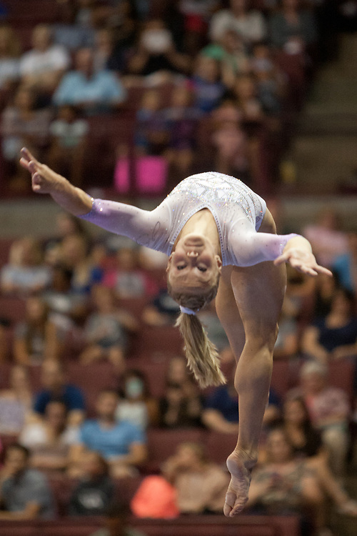 USA Gymnastics GK Classic - Schottenstein Center, Columbus, OH - July 28th, 2018. Riley McCusker competes on the beam  at the Schottenstein Center in Columbus, OH; in the USA Gymnastics GK Classic in the senior division. Simone Biles won the allround with Riley McCusker second and Morgan Hurd third. - Photo by Wally Nell/ZUMA Press