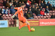 Luke Daniels of Scunthorpe United takes goal kick during the Sky Bet League 1 match between Scunthorpe United and Bradford City at Glanford Park, Scunthorpe, England on 21 November 2015. Photo by Ian Lyall.