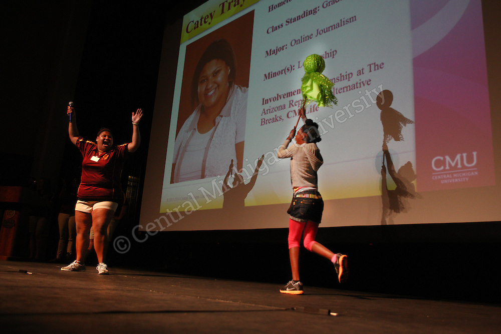 Incoming freshman attend orientation on June 10, 2014 on the campus of Central Michigan University.