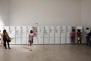 """Giardini. Czech Pavillion. zerozero untd., """"Sideways"""" (fridges of typical Czechs)."""