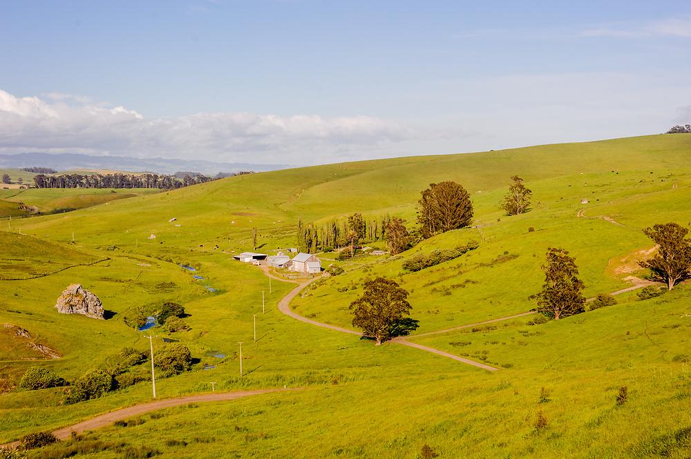 Farm outside Marshall, California, Rolling Hills