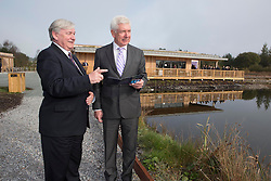 REPRO FREE: 13/10/2014<br /> Mr. John Horgan, Chairman, Bord na M&oacute;na is pictured with Minister for Communications, Energy and Natural Resources, Alex White T.D. at the official opening Bord na M&oacute;na&rsquo;s new &euro;1.5 million euro development, which sees a new visitor centre and facilities&rsquo; in Lough Boora Discovery Park, Co. Offaly. Picture Andres Poveda<br /> <br /> For further info contact:<br /> Daith&iacute; de R&oacute;iste<br /> Press Officer<br /> Bord na M&oacute;na<br /> 087 612 3999  <br /> daithi.deroiste@bnm.ie