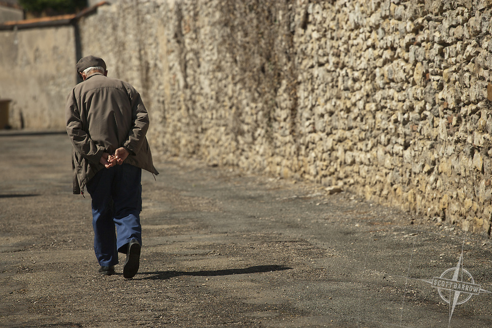 Man in Cahors, Central France