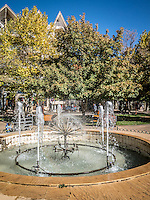 Fountains in the town centre of Ifrane, the Little Switzerland of Morocco.