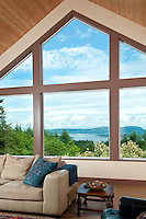Real Estate photos for home on Saltspring Island with a view of Active Pass