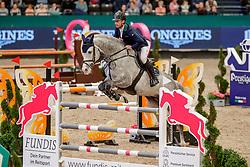 LYNCH Denis (IRL), Cornets Iberio<br /> Leipzig - Partner Pferd 2020<br /> FUNDIS Youngster Tour<br /> 2. Qualifikation für 7jährige Pferde <br /> Springprfg. nach Fehlern und Zeit, int.<br /> Höhe: 1.35 m<br /> 18. Januar 2020<br /> © www.sportfotos-lafrentz.de/Stefan Lafrentz