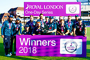 England ODI  series winners during the 3rd Royal London ODI match between England and India at Headingley Stadium, Headingley, United Kingdom on 17 July 2018. Picture by Simon Davies.