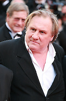 Gerard Depardieu at the The Homesman gala screening red carpet at the 67th Cannes Film Festival France. Sunday 18th May 2014 in Cannes Film Festival, France.
