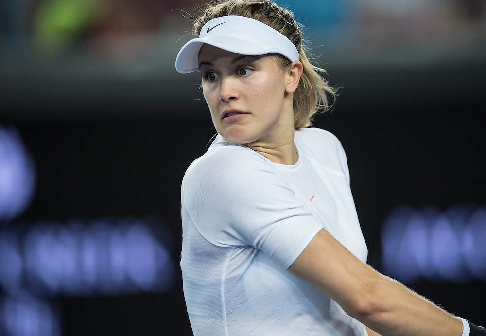 Eugenie Bouchard of Canada during her first round match on day one of the 2017 Australian Open in Melbourne, Australia on January 16, 2017.<br /> (Ben Solomon/Tennis Australia)