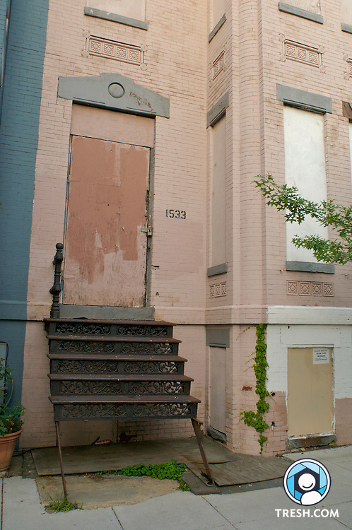 A vacant home owned by Shiloh Baptist church at 1533 Ninth St. NW. In 1998 the church received a grant of $340,000 for a makeover of this property into a youth coffeehouse.