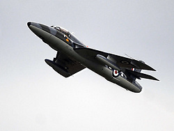 Hawker Hunter T7, Fighter of the 1950s,  The Duxford Air Show, 14th September 2014