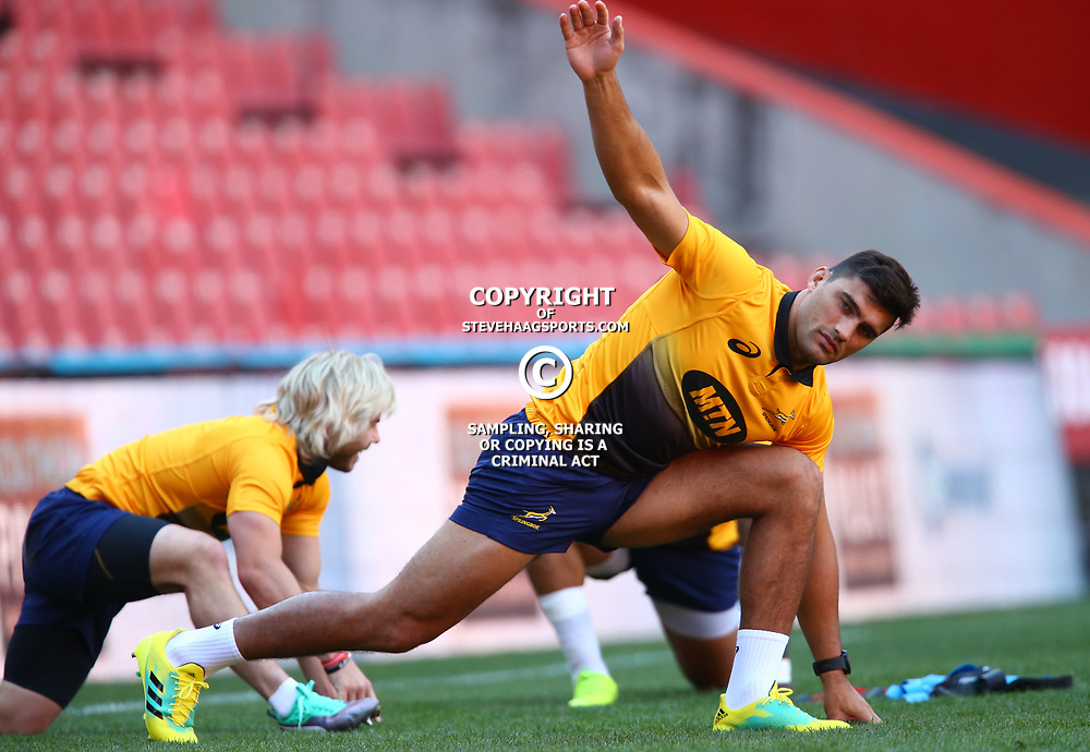 Damian de Allende of South Africa during the South African - Springbok Captain's Run at Emirates Airline Park,<br /> Johannesburg .South Africa. 08,06,2018 Photo by (Steve Haag Sports)