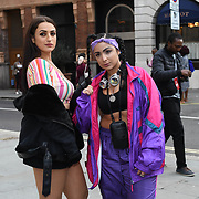 Amel Rachedi &  Laughta attend Fashion Scout - SS19 - London Fashion Week - Day 2, London, UK. 15 September 2018.