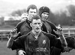 Westport's Dave Thomas poised at the lineout...Pic Conor McKeown