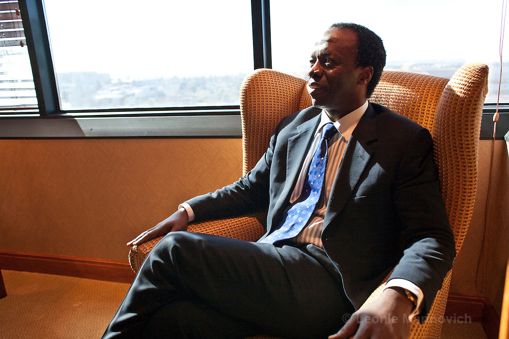 23 June 2009, Johannesburg, South Africa. Sizwe Nxasana will be the first black CEO of a major South African banking group when he succeeds Paul Harris as group CEO of FirstRand Group at the end of this year, and will join only a handful of black executives running one of the country's top-40 blue chips.