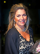 8-11-2014 - UTRECHT Queen Maxima attends Saturday, November 8, 2014 the Final Gala evening at the 10th International Franz Liszt Piano Competition in Utrecht. COPYRIGHT ROBIN UTRECHT