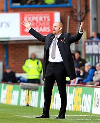 Burnley Manager Sean Dyche gestures in frustration - Mandatory by-line: Matt McNulty/JMP - 02/05/2016 - FOOTBALL - Turf Moor - Burnley, England - Burnley v Queens Park Rangers - SkyBet Championship