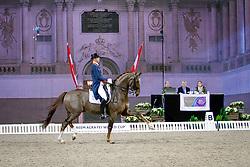 Minderhoud Hans Peter, (NED), Glock's Flirt<br /> Swedish International Horse Show Stockholm 2015<br /> © Hippo Foto - Peter Zachrisson