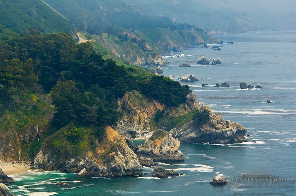 The rugged cliffs above the Pacific Ocean along the Big Sur Coast, Monterey County, California