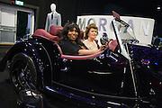 SAFFRON WHITE; ELIZABETH CROXFORD, Preview for The London Motor Show, Battersea Evolution. London. 5 May 2016