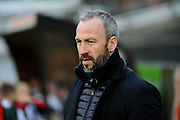 Cambridge Utd manager Shaun Derry during the Sky Bet League 2 match between Plymouth Argyle and Cambridge United at Home Park, Plymouth, England on 12 December 2015. Photo by Graham Hunt.