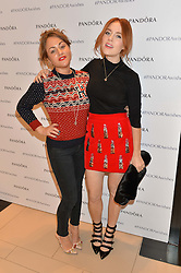 Left to right, JAIME WINSTONE and ANGELA SCANLON at the #PandoraWishes Campaign Launch Event, Pandora Marble Arch flagship store, London on 12th November 2014.