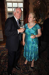 DAME ROSALIND SAVILL and SIR TIMOTHY CLIFFORD at a party to celebrate the 250th anniversary of the Colnaghi Gallery held at Spencer House, London on 1st July 2010.