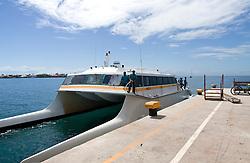 Passenger and freight ferry, La Ceiba to Utila, Honduras.